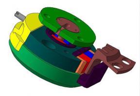 Датчик углового положения 360° с магнитными экранами