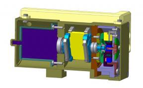 Оптико-механический блок в разрезе