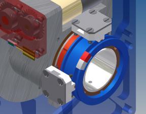 Датчик углового положения 360° с оптическим окном и датчиком реперной точки парковочного положения бленды